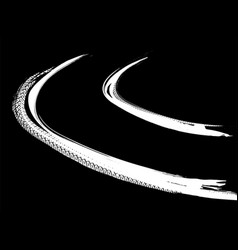 tire track road vector image