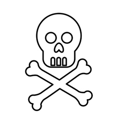 Virus skull alert isolated icon vector