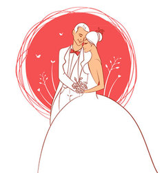 wedding pics vector image vector image