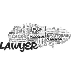 where to find the best lawyers text word cloud vector image