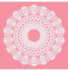 White crochet doily vector image