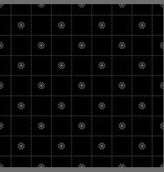 white flower in dash chess board japanese vector image