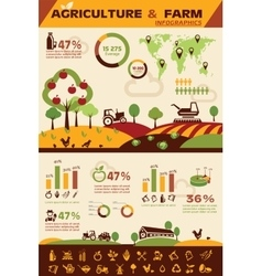 agriculture and farming infographics icons vector image vector image