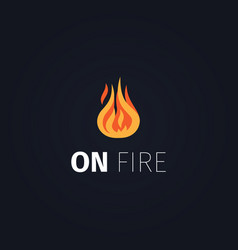 on fire flame logo template vector image vector image