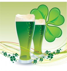 St Patrick's day green beers vector image vector image