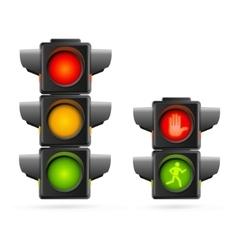 Traffic Lights Set Realistic vector image