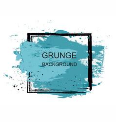 Blue grunge brush paint texture design stroke post vector