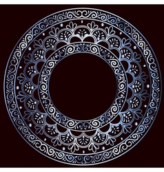 round silver frame vector image vector image