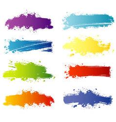 splash banners color vector image