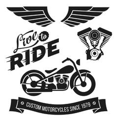 Vintage motorcycle design vector image vector image