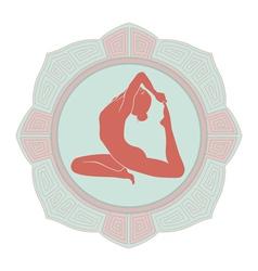 woman yoga vector image