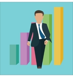 business man walking standing confident confidence vector image vector image