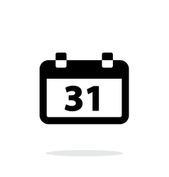 Calendar date simple icon on white background vector image vector image