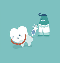 dentist going to inject tooth concept of dental vector image
