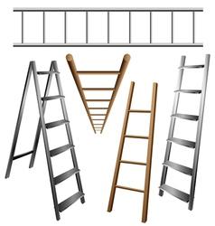 Ladder set vector image vector image