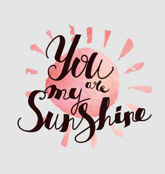 you are my sunshine vector image