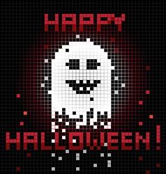 pixel halloween ghost vector image