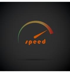 Speedometer icon Logo company Internet speed vector image