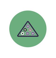 Stylish icon in color circle billiard balls vector
