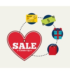 valentines sale design vector image