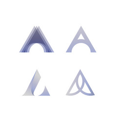 A letter logo lettermark set collection lux luxury vector