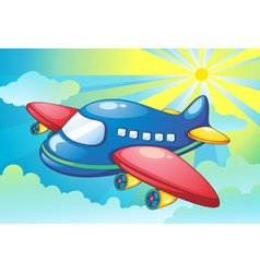 Aeroplane Flying Background vector