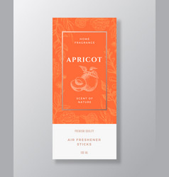 Apricot home fragrance abstract label vector
