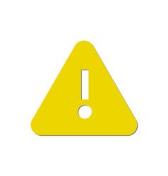 attention sign - caution alert symbol vector image