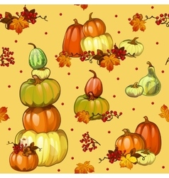 Autumn background with pumpkins for a poster vector image