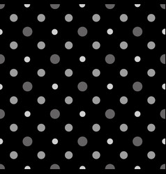 black and white polka dots seamless pattern vector image