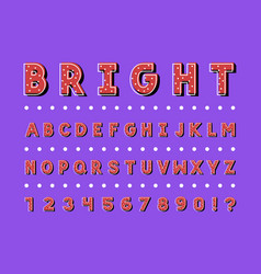 bright font alphabet vector image