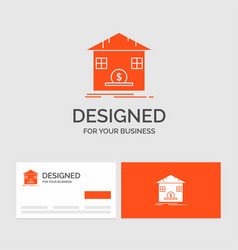 business logo template for deposit safe savings vector image