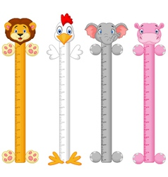 Cartoon animal wall meter vector