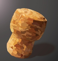 Champagne cork on a gray background vector