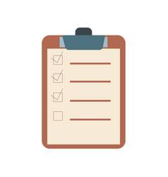 checklist flat design icon vector image vector image