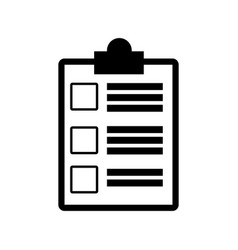 Clipboard check document paper image vector