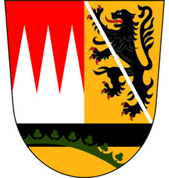 Coat of arms of hasberge in lower franconia vector