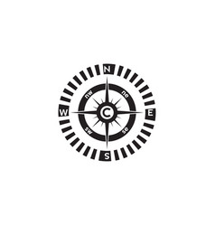 Compass logo design pointer north south east west vector