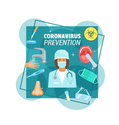 coronavirus epidemic prevention medical poster vector image