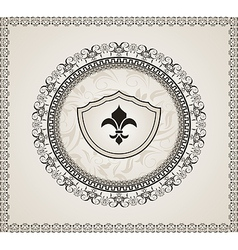 cute background with heraldic element - vector image