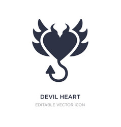 Devil heart with wings icon on white background vector