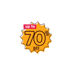 Discount up to 70 off label template design vector