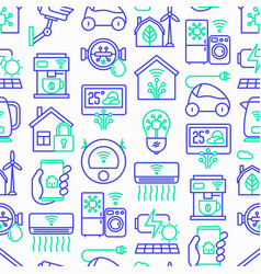 eco smart house seamless pattern vector image