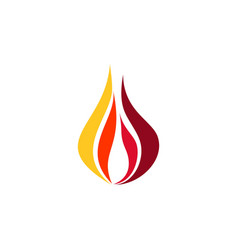 fire flame logo modern hot fire symbol icon vector image