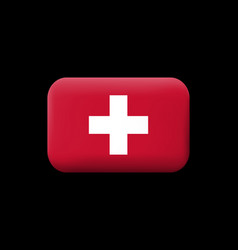 Flag of switzerland matted icon and button vector