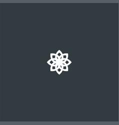 floral pattern symbol design inspiration vector image