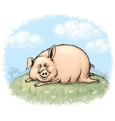 Fun pig vector