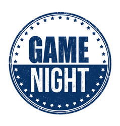 Game night sign or stamp vector