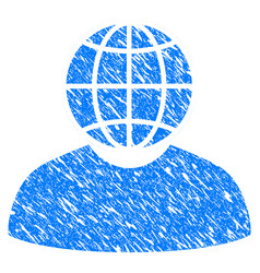 global politician grunge icon vector image