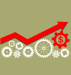 Growing economy and industry represented by gears vector